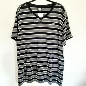 NEW ENYCE Striped Gray Tee Size XL